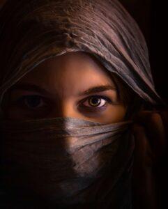 verhüllte Muslima